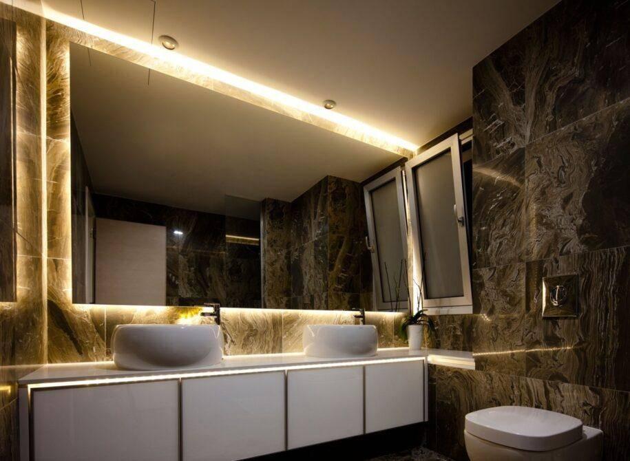 Освещение в ванной — расчет количества источников света, правила размещения. 140 фото идей дизайна