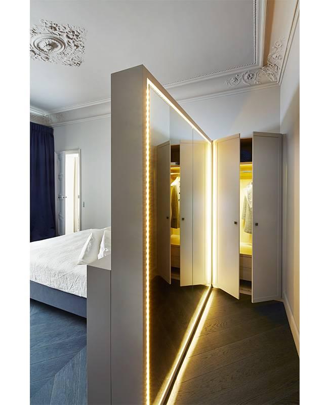 Подсветка светодиодной лентой: варианты освещения, способы монтажа, фото