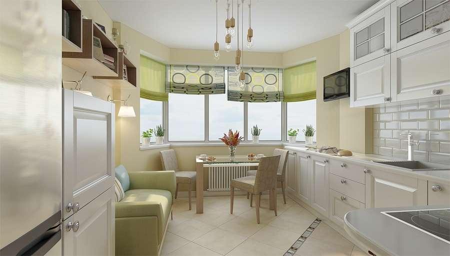 Кухни с эркером: разновидности планировок и советы по оформлению