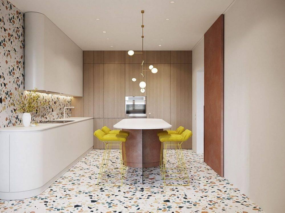Обои для маленькой современной кухни: расширяем пространство и ловим свет
