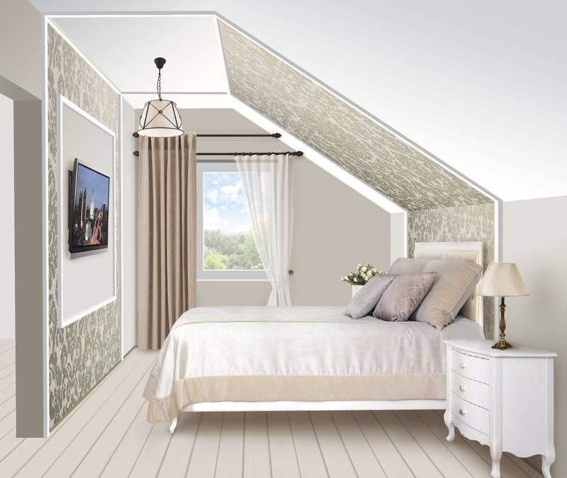 Дизайн интерьера мансарды в частном загородном доме: 28 фото