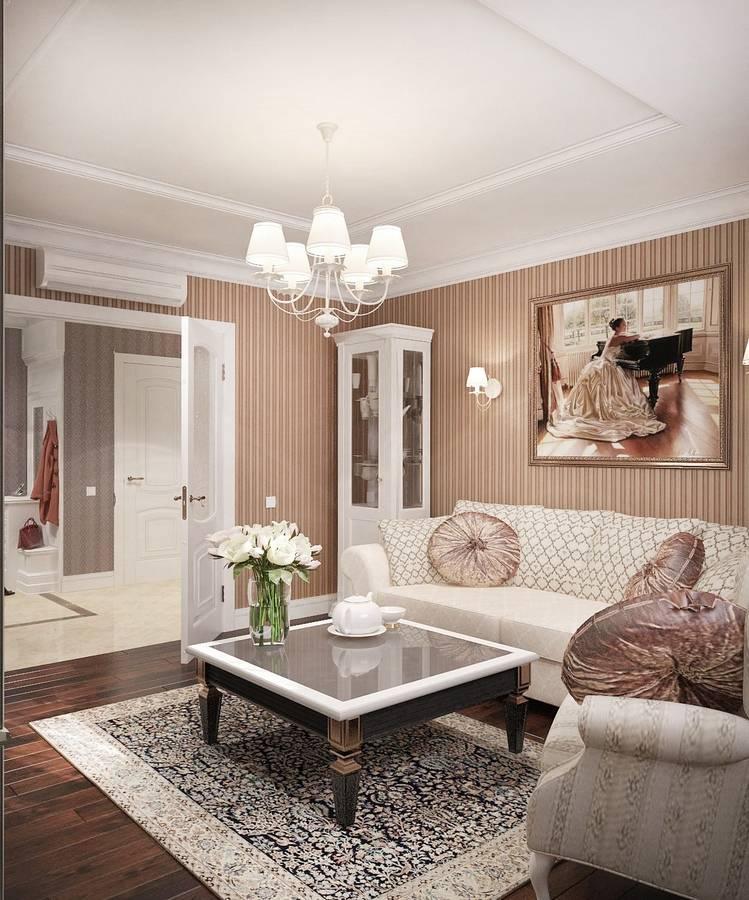 Гостиная в классическом стиле: идеи дизайна (80 фото)