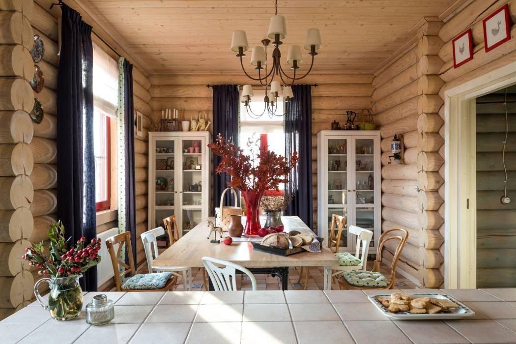 Варианты отделки интерьера стен деревом из бруса, спилов, фанерой и вагонкой