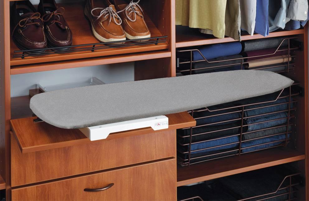 Гладильная доска, встраиваемая в шкаф