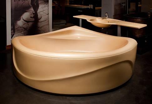 Достоинства и недостатки ванны из литьевого мрамора