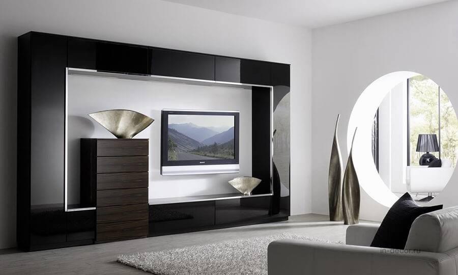 Стенка в гостиную — 100 фото красивых стенок для гостиной