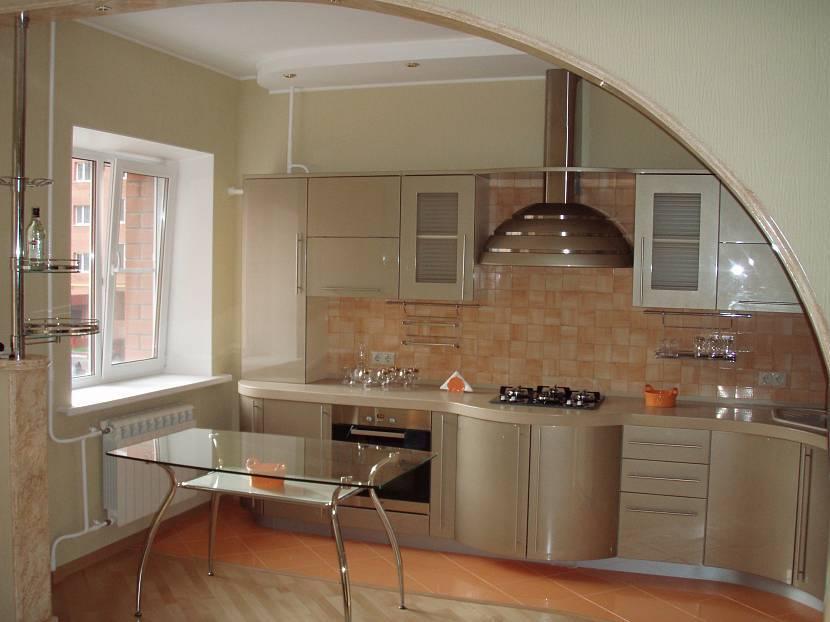 Арка на кухню: плюсы и минусы отказа от двери - 9 фото