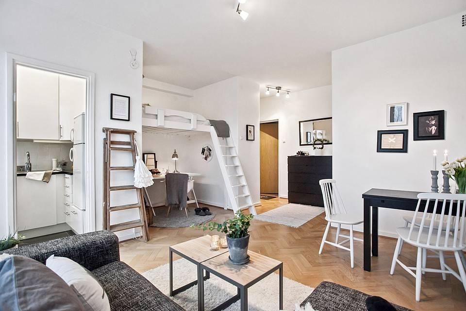 Дизайн квартиры-студии - топ-150 фото лучших интерьеров студии