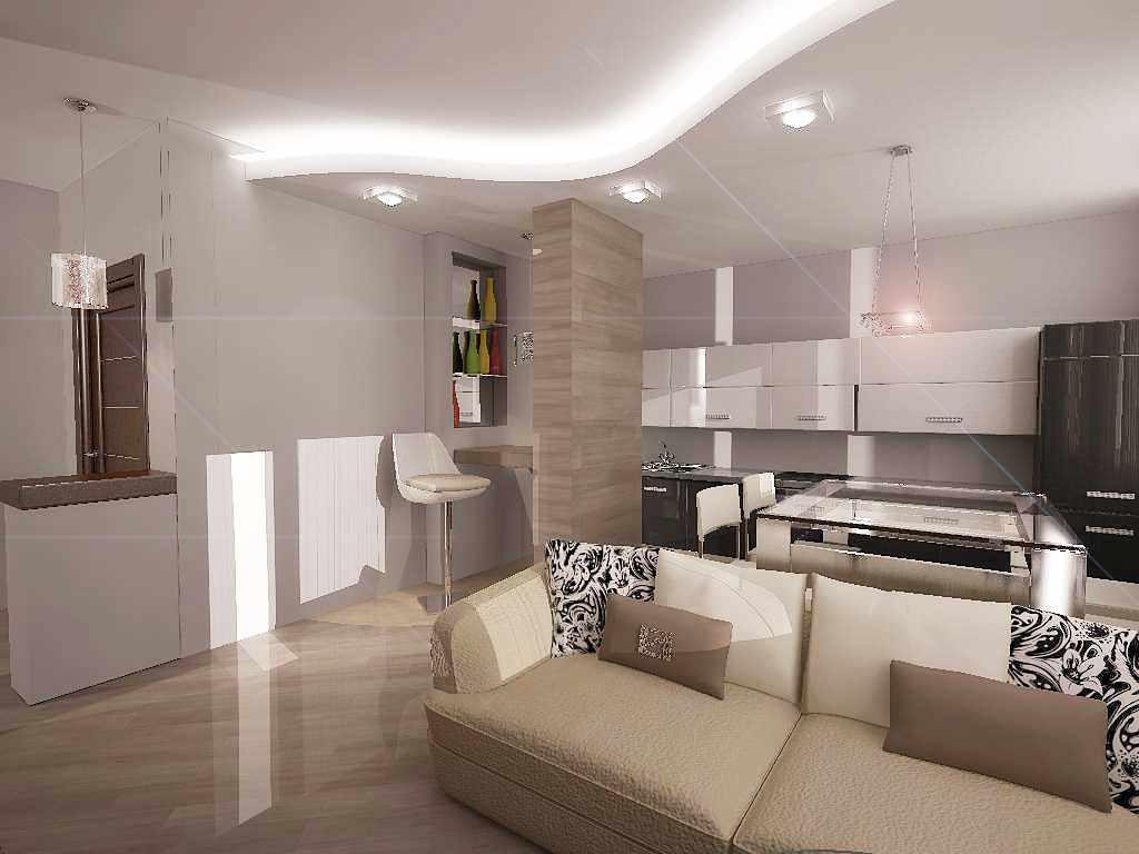 Дизайн кухни-гостиной (42 реальных фото) - современные идеи 2020-2021 года