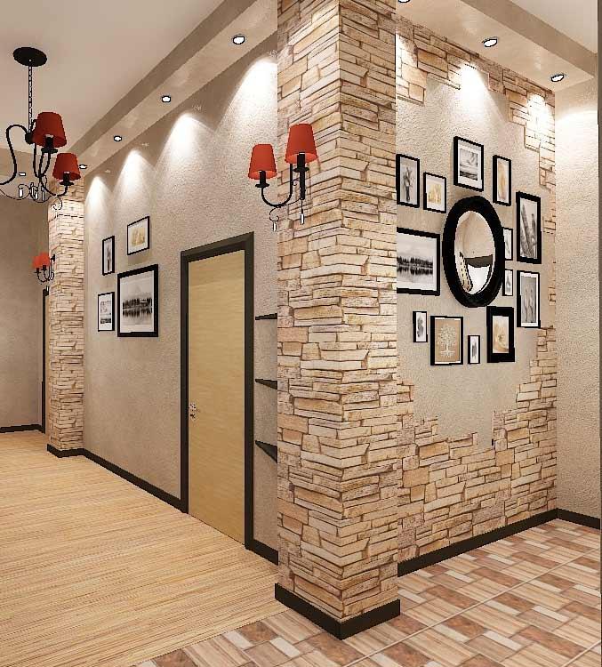 Отделка стен в прихожей: варианты декора коридора в современном стиле, чем отделать красиво и практично - 55 фото