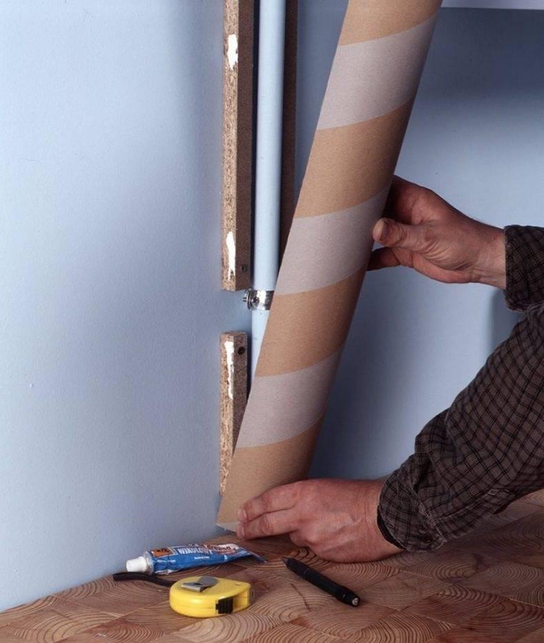 Как спрятать газовую трубу на кухне, в прихожей, в ванной: фото идеи