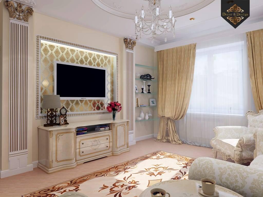 Гостиная в классическом стиле: основные принципы оформления и необходимые элементы интерьера, фото