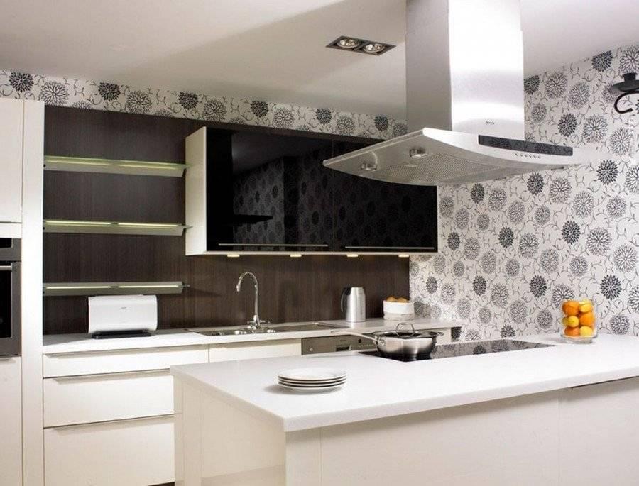 Обои для кухни - 135 фото шикарных обоев в интерьере современной кухни
