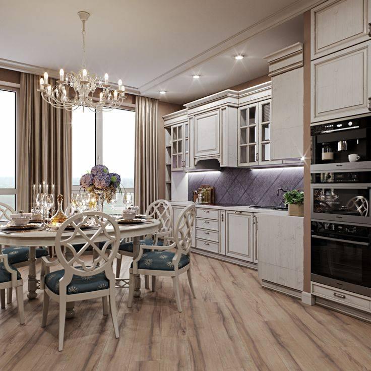 Правила оформления кухни в классическом стиле, подбор цвета и аксессуаров