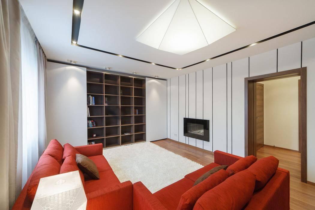 Гостиная в стиле минимализм: 44 фото и видео интерьера квартиры