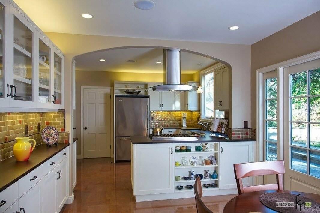 Арка на кухню вместо двери с фото: из гипсокартона в маленькой квартире