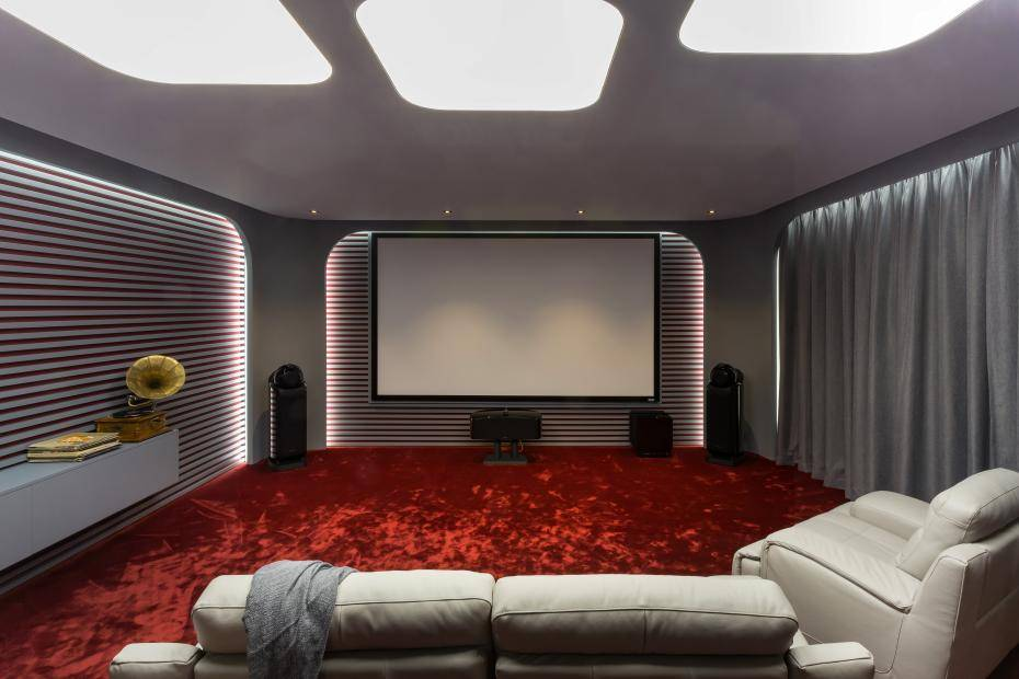 Дизайн домашнего кинотеатра +40 фото примеров интерьера