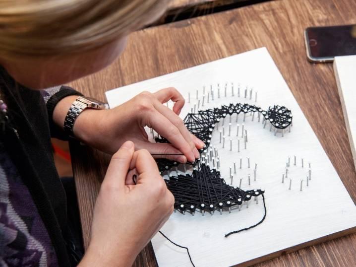 Стринг арт (string art): шаблоны и схемы, мастер-класс для начинающих