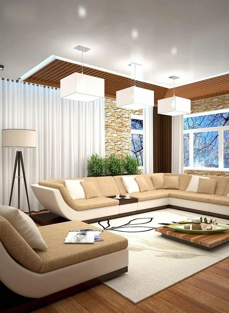 Современная гостиная в частном доме — последние тенденции в оформлении зала + 140 фото реальных примеров дизайна