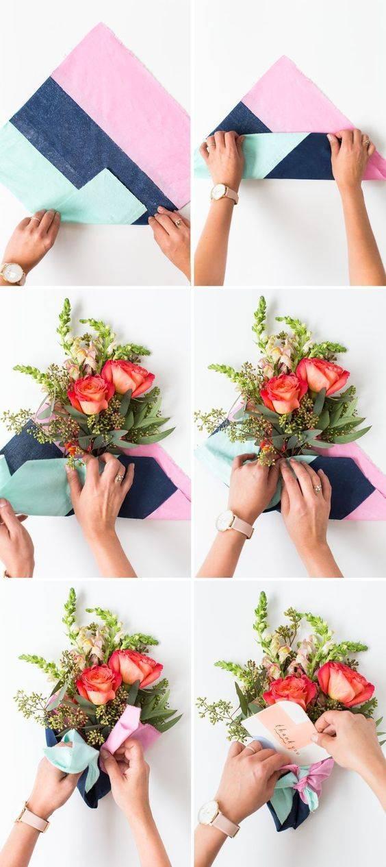 Как красиво обернуть или упаковать букет
