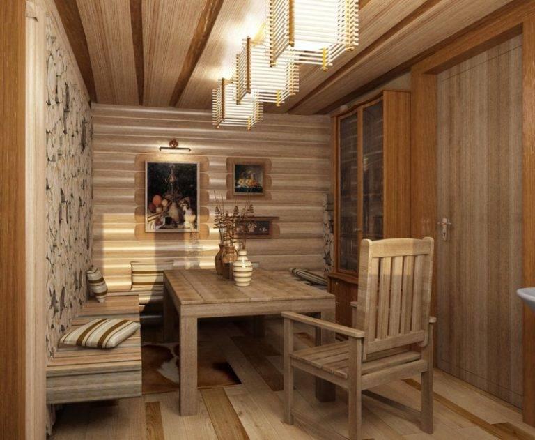 Отделка комнаты отдыха бани внутри фото