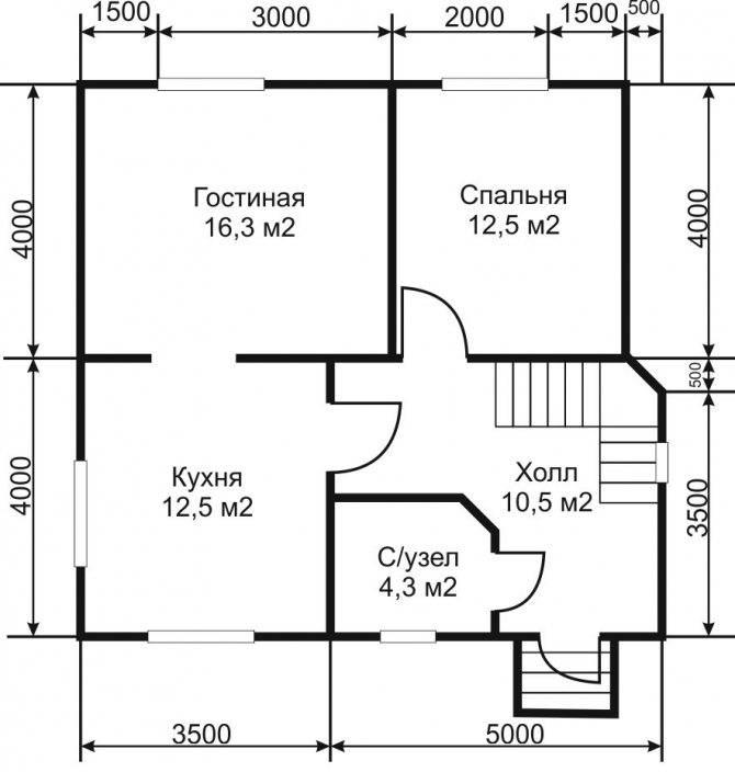 Особенности планировки дома с мансардой 8 на 10 + примеры проектов