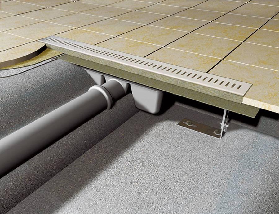 Трап для душа под плитку: как установить трап для душевой кабины своими руками (фото, видео)