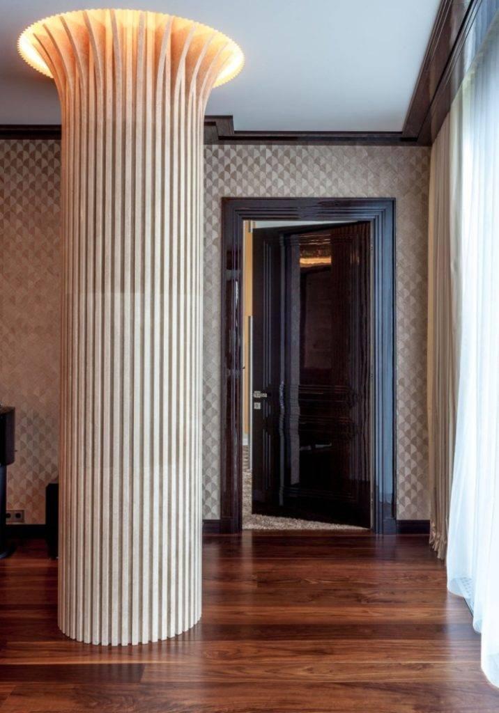 Колонны в современном интерьере — 40 фото дизайна
