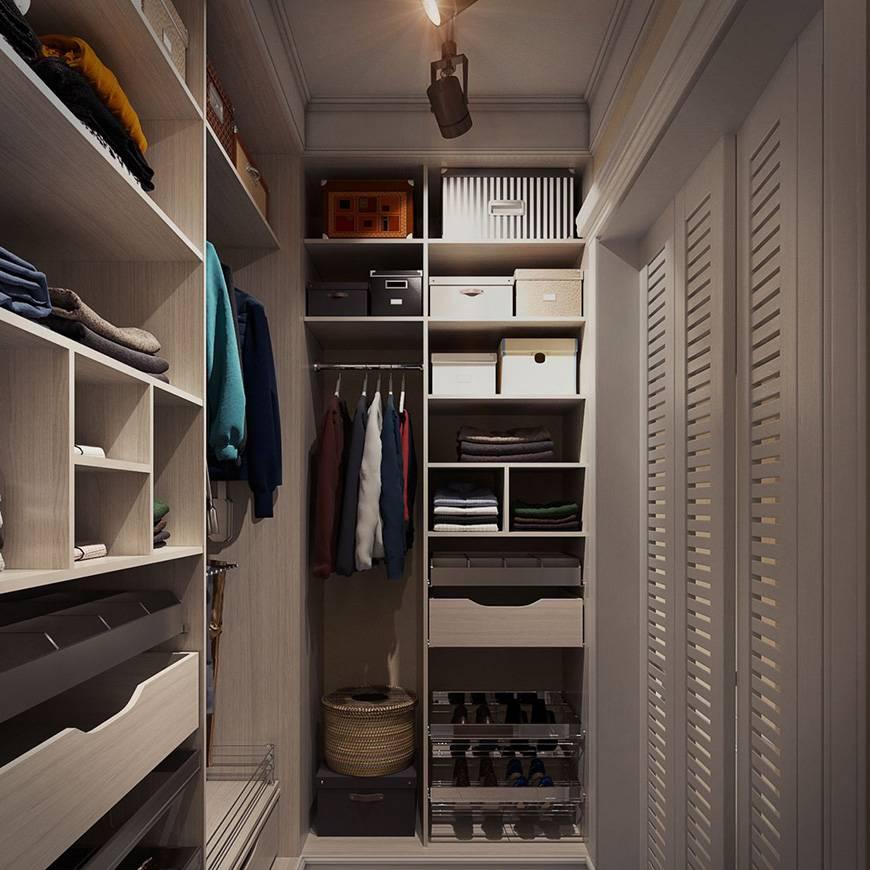 Дизайн гардеробной комнаты маленького размера: фото, идеи, советы