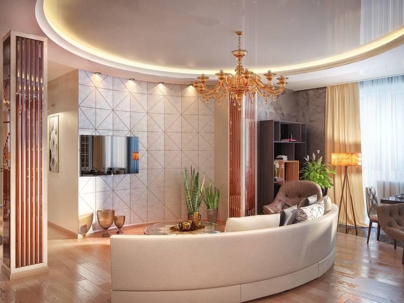 Колонны в интерьере - стили, типы, материалы отделки