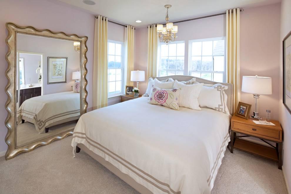 Зеркало в спальне: правила размещения, современный дизайн, фото новинок