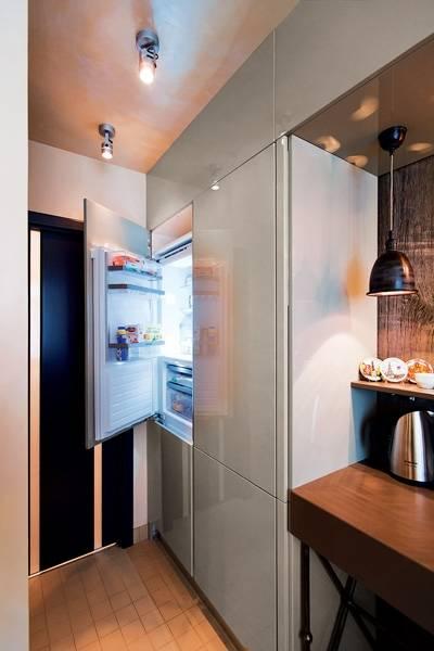 Холодильник в прихожей (32 фото): варианты дизайна прихожей с техникой. как спрятать холодильник в коридоре?