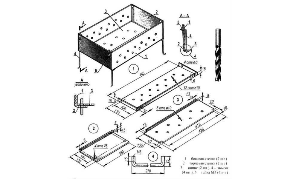 Мангал своими руками: как сделать из металла и кирпича