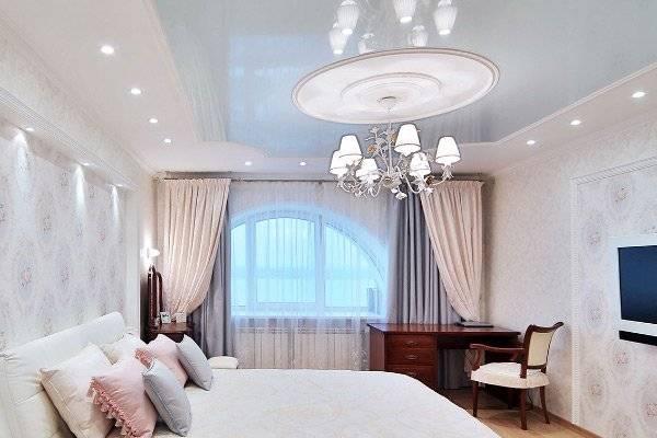Натяжной потолок в спальне: как правильно оформить и выбрать цвет? 65 фото дизайна!