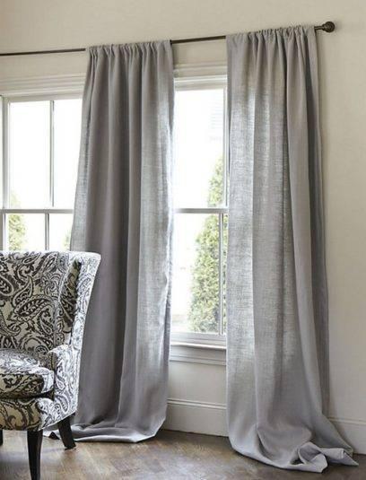 Льняные шторы - 115 фото идей дизайна штор из льна в современном интерьере