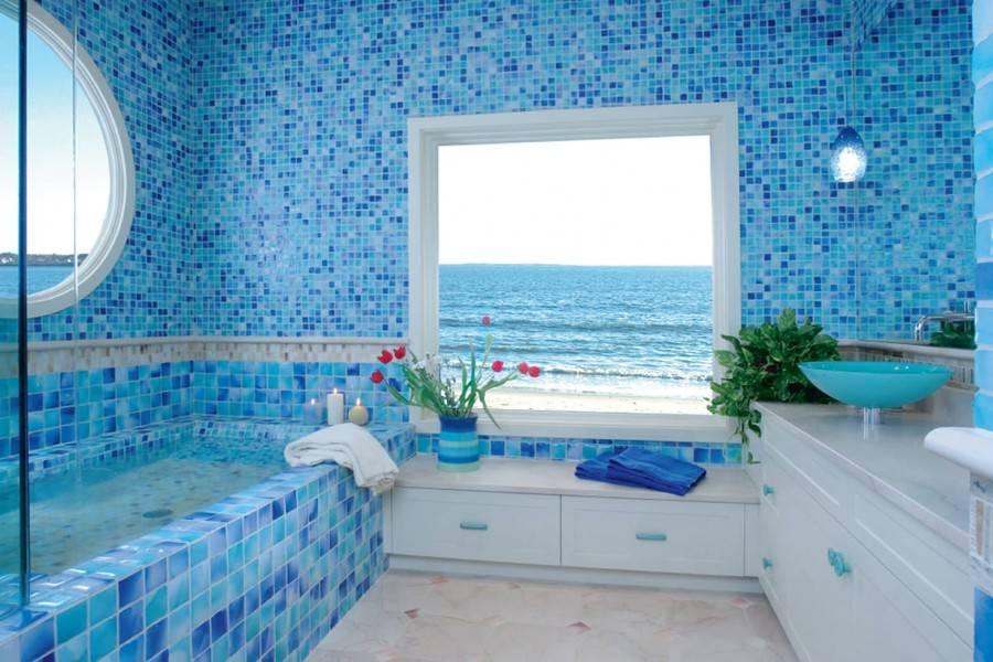 Обустройство ванной в морском стиле своими руками