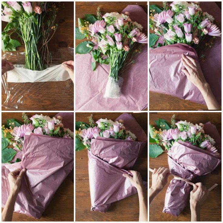 Как красиво упаковать букет цветов своими руками: оригинальные идеи