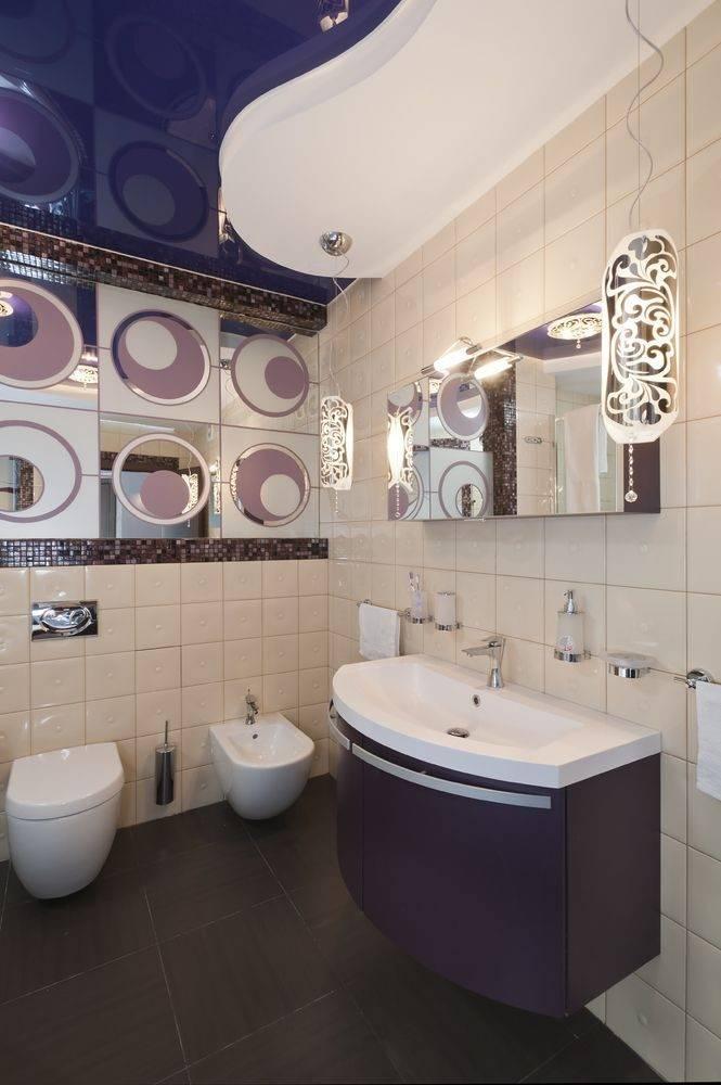 Можно ли делать натяжной потолок в ванной комнате: делают ли, можно ли устанавливать, какой лучше сделать