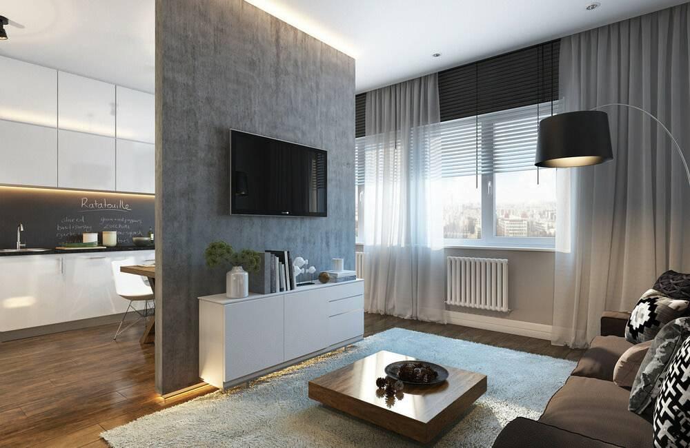 Дизайн однокомнатной квартиры (151 фото): проекты оформления интерьера, примеры ремонта в комнате для семьи с ребенком