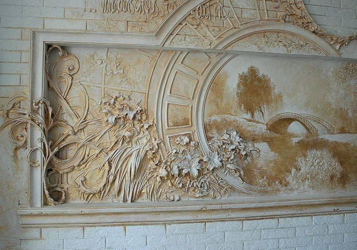 Идеи оформления стен барельефом
