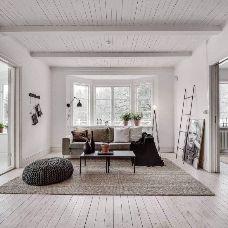 Белый пол в интерьере +75 фото идей дизайна