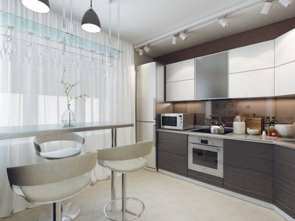 Кухня в стиле хай-тек - фото интерьера и принципиальные черты стиля (135 фото и видео)