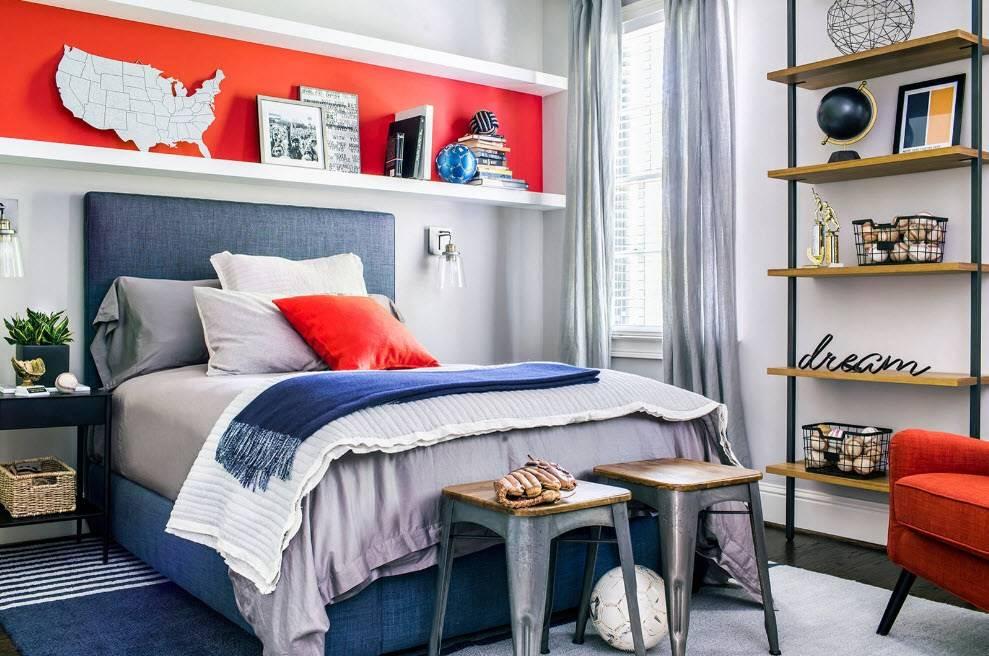 Дизайн комнаты для подростка мальчика (47 фото): лучшие интерьеры и идеи