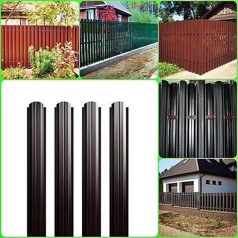 Купить забор из металлического евроштакетника под ключ в москве и области по цене от 1250 руб за погонный метр    стройзабор