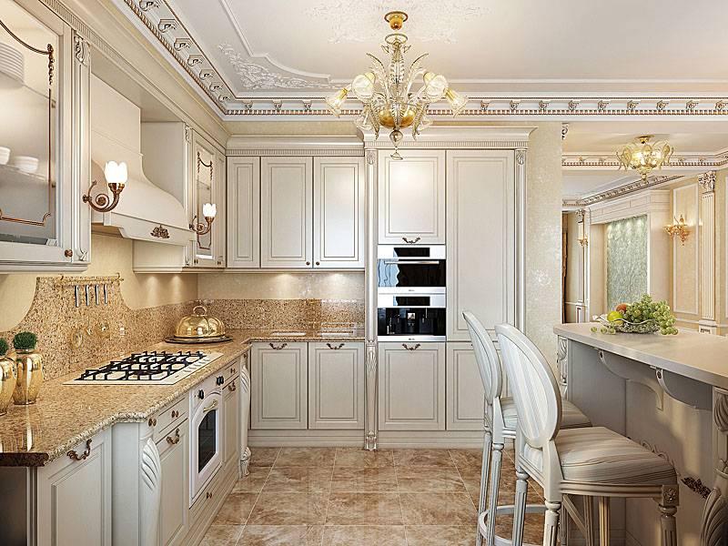 Современная классика в интерьере кухни