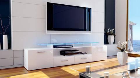 Популярные дизайны современных тумб под телевизор, варианты размещения