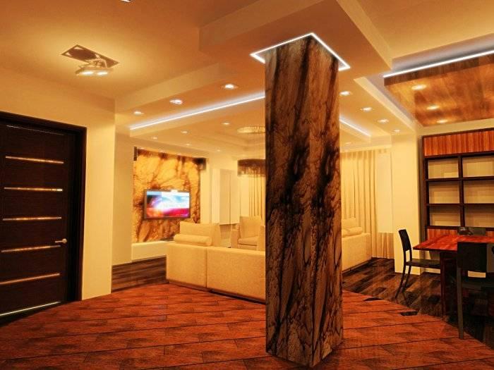 Колонны в интерьере дома: варианты дизайна с колоннами