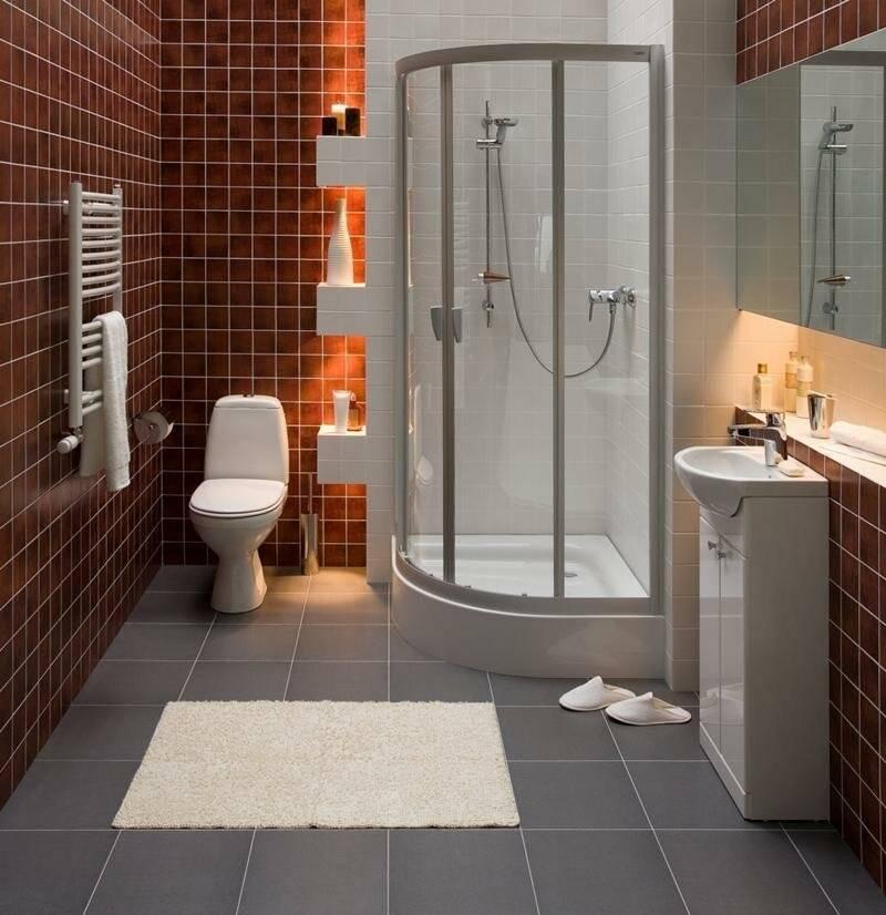 Ванная с душевой кабиной: планировка, дизайна, зонирование + фото удачно подобранного цвета и стиля для ванной комнаты