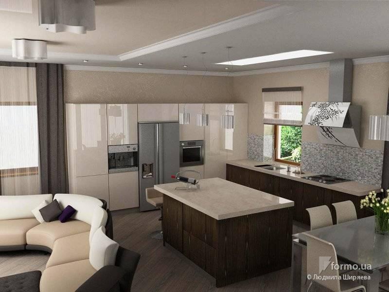 Кухня-гостиная 30 кв. м: 100+ фото [лучшие идеи дизайна 2019]