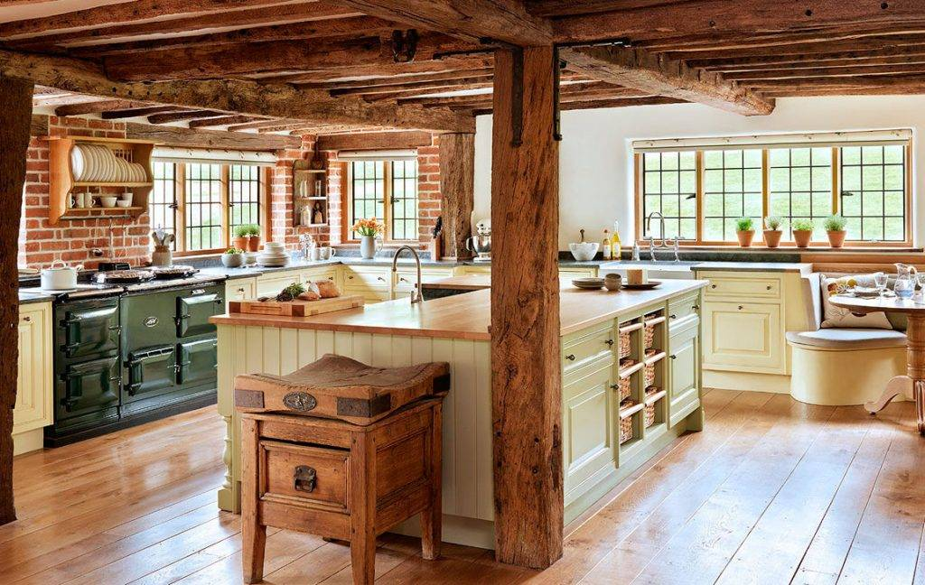 Кухня в стиле кантри - выбор элементов, цвета и форм (125 фото)